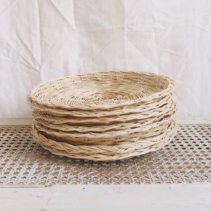 🏷 Set of Straw Paper Plate Baskets